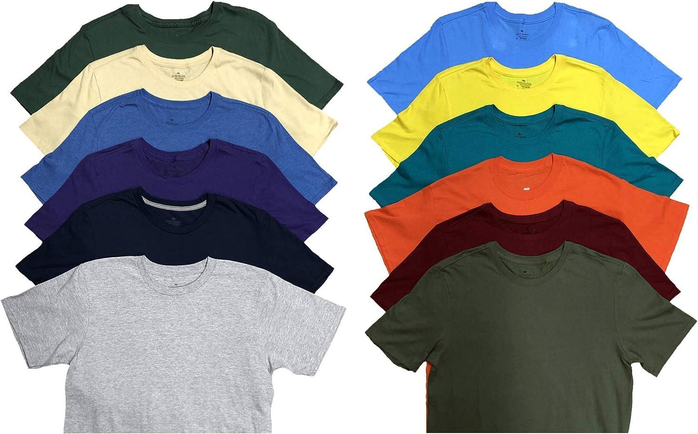 SOCKS'NBULK Mens Cotton Crew Minneapolis Mall Neck Sleeve Mix T-Shirts Colo Short Popular popular