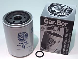 GSParts #R Gar-Ber R Spin On Furnace Fuel Oil Filter Epoxy Coated Garber Cartridge