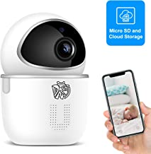 $29 » Doenssi Baby Monitor Pet Camera Indoor Security Camera Wireless 1080P HD 2.4G WiFi IP with Pan/Tilt Night Vision Motion & Sound Detection 2 Way Audio MicroSD Cloud Storage for Home Security