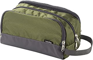 Toiletry Bag Army Green, Yeiotsy Light Mesh Travel Toiletry Organizer for Weekend Trip Gym Bag Teens Shaving Kit Bag for Kids (Army Green)