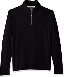 Men's Long Sleeve Half Zip Mock Neck Sweatshirt