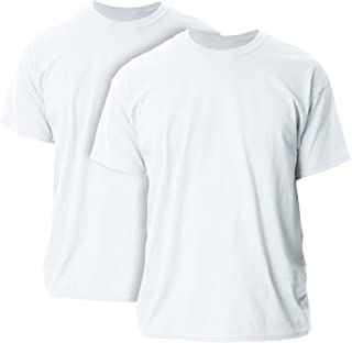 Gildan Men's Ultra Cotton T-Shirt, Style G2000, 2-Pack, White, Large