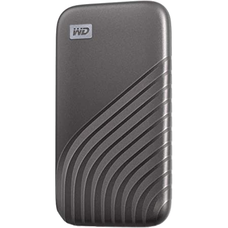 WD ポータブルSSD 500GB グレー USB3.2 Gen2 My Passport SSD 最大読取り1050 MB/秒 外付けSSD /5年保証 WDBAGF5000AGY-WESN