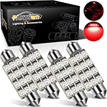 Partsam 41mm 42mm Festoon 12SMD LED Light Interior Dome Map Trunk Cargo Replacement Bulb Lamp 12V 561 562 578 211-2 4Pcs Red