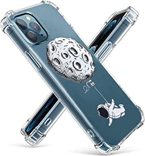 POZAJI Clear Case Compatible with iPhone 11 Pro 5.8 Inch Soft & Flexible TPU Shockproof Cover Women Girls, Star hot air Ba...