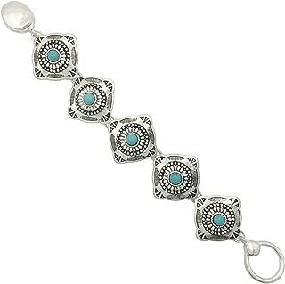 Gypsy Jewels Western Style Silver Tone Clasp Bracelet