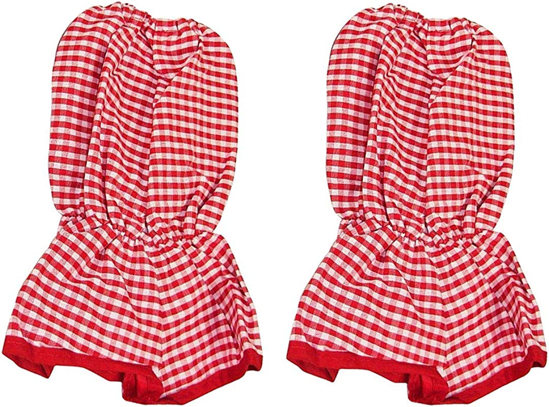 Sleeve Protectors Baker Sleeves Sleeve Covers Clothing Protectors Red Gingham Set Of 2