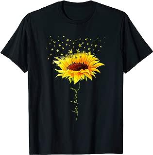 Be Kind Hippie Sunflower I Love You Deaf ASL Sign Language T-Shirt