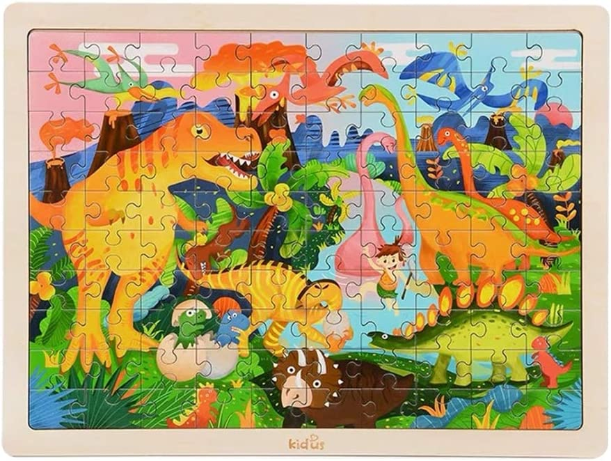 MZWJ Dinosaur Puzzle Wooden Max 82% OFF Max 86% OFF Young Developm Children Intelligence