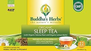 Buddha's Herbs Premium Organic Sleep and Relaxation tea with Valerian Root , Lemon Balm and Chamomile - 44 Tea bags (Pack of 2)