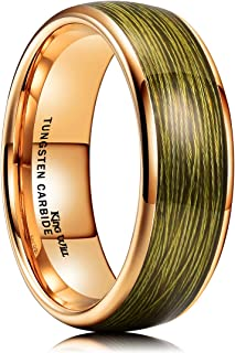 Mens 8mm Tungsten Carbide Wedding Ring Red/Sliver/Olive...