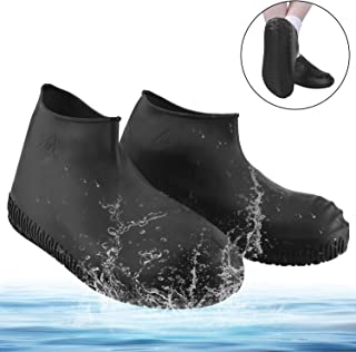 Katosca Rain Shoe Covers, Reusable Silicone Waterproof Shoe Covers, No-Slip Silicone Rubber Shoe Protectors for Kids, Men and Women Foldable Outdoor Shoe Cover
