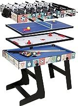 QYBK Deluxe Top Multi-Function Game Table -Table Tennis,Glide Hockey,Foosball,Pool,Basketball Set