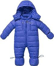 WESIDOM Newborn Baby Toddler Girls Boys Snowsuit Hooded Winter Romper Jumpsuit Coat