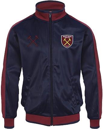 West Ham United FC - Chaqueta de Entrenamiento Oficial - para niño - Estilo Retro