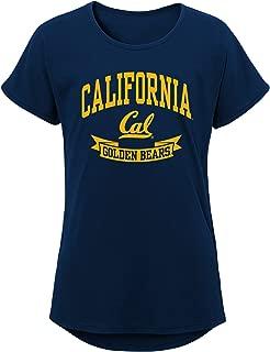 NCAA California Golden Bears Girls Outerstuff Short Sleeve Dolman Tee, Team color , Youth Large (12-14)