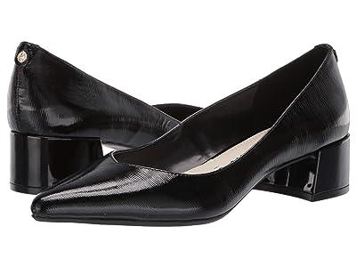 Anne Klein Norwood Block Kitten Heel (Black Patent) Women