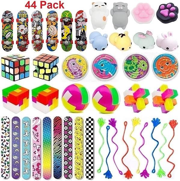 44 件派对玩具组合儿童派对生日派对学校教室奖励嘉年华奖品皮纳塔填充物宝箱奖品盒子玩具糖果袋填充物