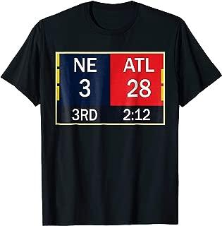 NE 3 ATL 28 Final T-shirt 2 Sides 1 Game
