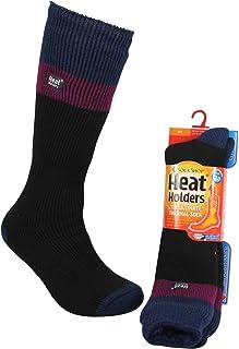 Heat Holders Women's Warm Winter Thermal Ski Long Socks, Black, UK 4-8