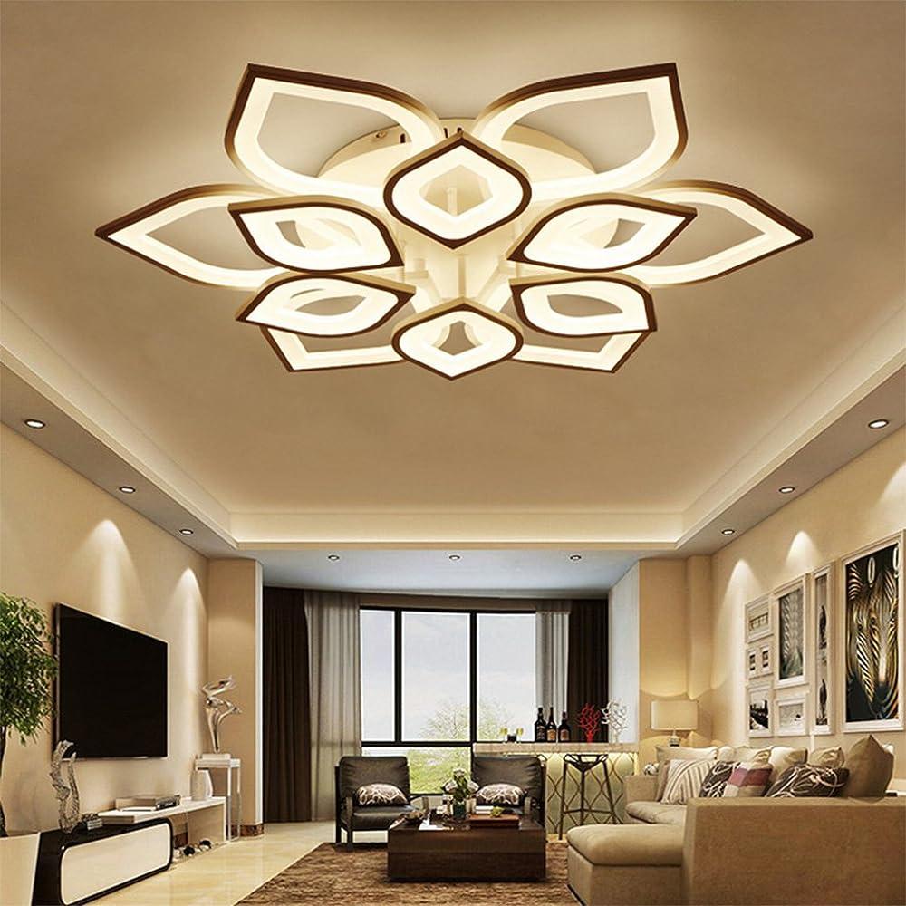Qligha plafoniere moderno led lampada da soffitto dimmerabile con telecomando 210-232