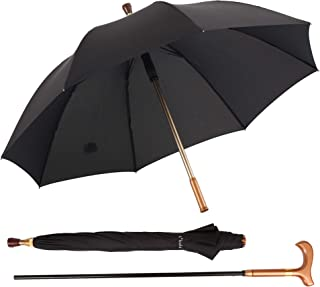Kobold Classic Cane Umbrella Walking Stick Umbrellas Assist Outdoor Lightweight Black