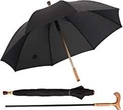 Kobold Classic Windproof Cane Umbrellas 2 in 1 Walking Stick Umbrella Extra Large Oversize for Assist Outdoor Hiking Climbing Gift for Father
