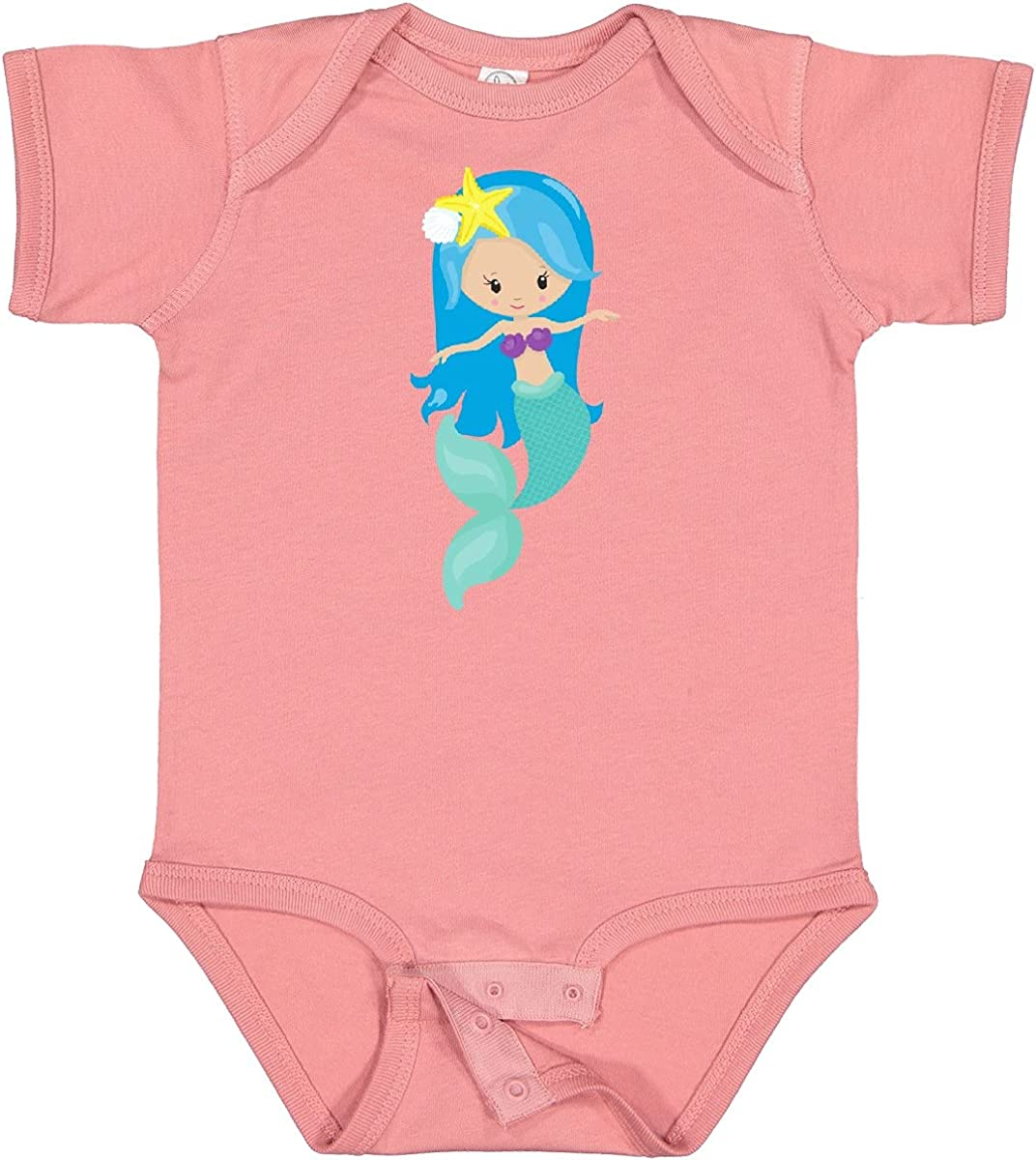 inktastic Cute Mermaid Little Same day shipping Infa Hair quality assurance Blue Starfish