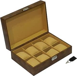 Laveri Faux Leather 8 Watches Storage Box For Unisex