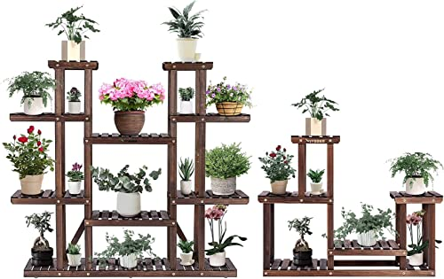 2021 VIVOSUN Wooden Plant Stands Carbonized Indoor Plant Shelves outlet sale Flower discount Racks outlet online sale