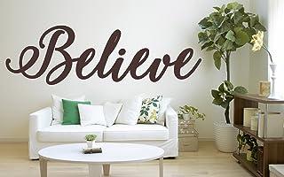 """Cita""""Believe"""", vinilo decorativo de vinilo, mural, calcomanía. Hogar, decoración de la pared. Inspiración, Motivación, Cit..."""