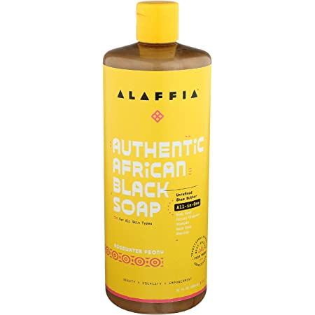 Alaffia, Black Soap Authentic African Rosewater Peony, 32 Fl Oz