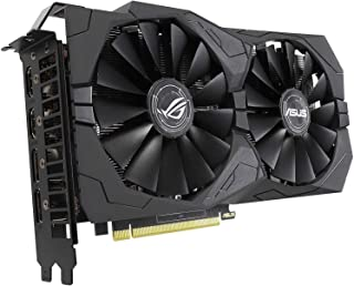ASUS ROG Strix GeForce GTX 1650 Overclocked 4GB الإصدار VR Ready HDMI 2.0 DP 1.4 بطاقة رسومات الألعاب (ROG-STRIX-GTX1650-O...
