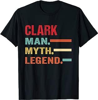 Mens CLARK Man Myth Legend Vintage First Name Tee T-Shirt
