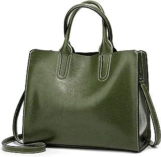 FORRICA Handtasche Damen Umhangetasche Shopper Taschen Groß Schultertasche Frauen Handtaschen Retro PU Leder Tote Bag für ...