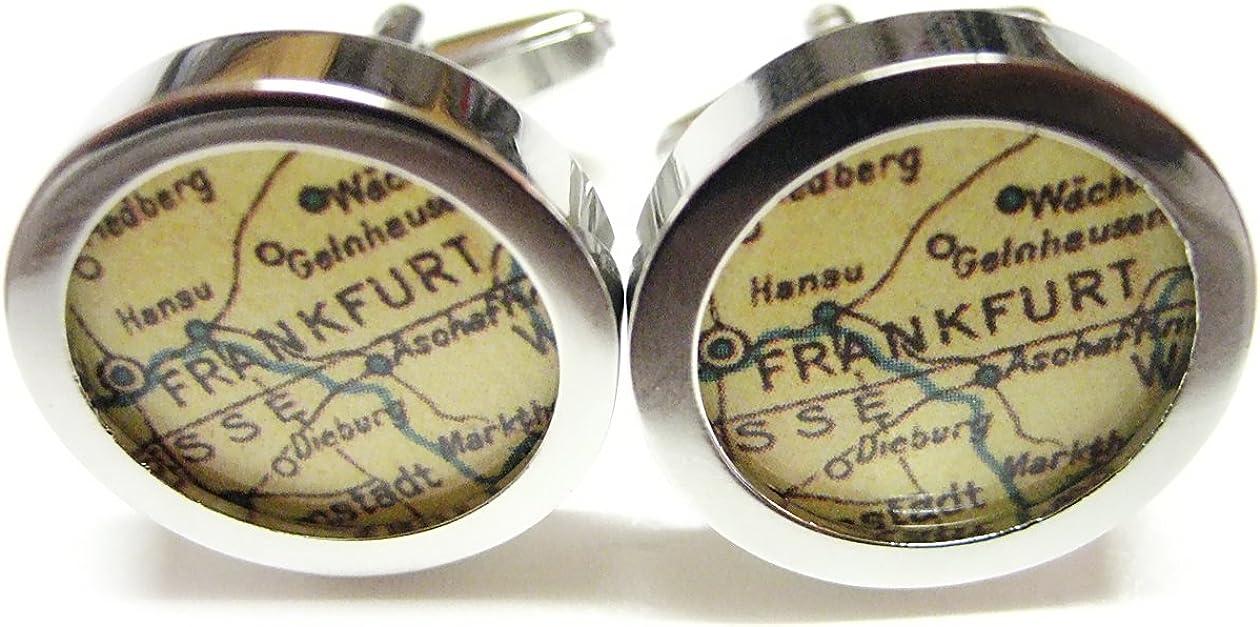 Frankfurt Map Cufflinks