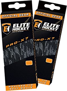 Pro X7 Wide Cotton Hockey Skate Laces - Set of 2 Pairs