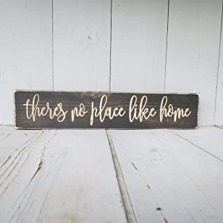 CELYCASY There's no Place Like Home Sign, There's no Place, no Place Like Home, Like Home, Home Decor, Home Sign, Wood Sign, Home, Housewarming