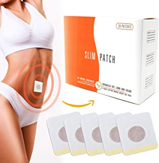 Reejoys 30pcs weight loss sticker, fat burning sticker with magnets, traditional Chinese medicine, for waist abdominal fat, quick slimming (one course of treatment)