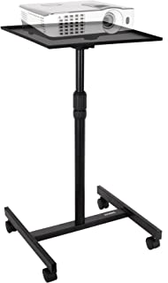 Duronic Table Stand WPS20 Adjustable Height Floor Projector/Laptop Stand with Wheels