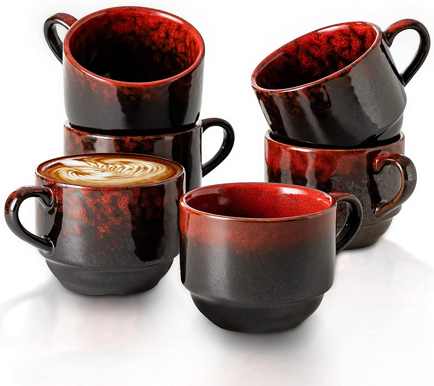 Ceramic Coffee Mug 6.7 Oz Mugs Reactiv Challenge the lowest price of Japan Limited time for free shipping 6 Stoneware Set of