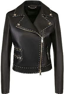 Womens Genuine Lambskin Motorcylce Biker Leather Jacket