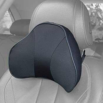 ZATOOTO Car Neck Pillow Memory Foam - Neck Pain Relieved Cervical Support Black Seat Headrest Driving Adjust Height TX- Black