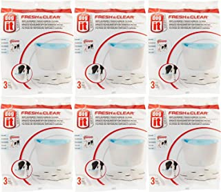 Dogit Design Carbon Replacement Foam Filter Cartridge for Dogit Design Fresh & Clear Fountain 18 Pack (6 units of 3)