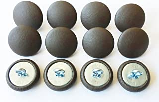 Set of 12 Wire Eye Back Upholstery Buttons Dark Chocolate Vinyl (#30-3/4