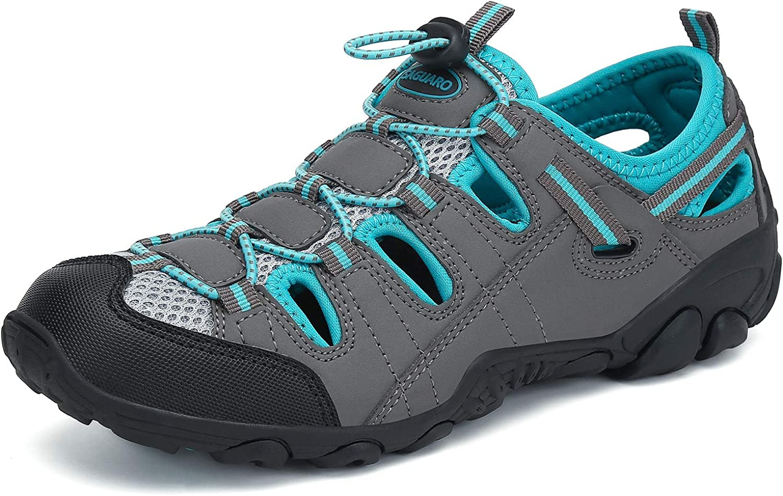 Mens Womens Athletic Hiking Sandal Closed Toe Outdoor Walking Wa