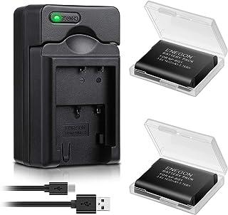 Batería ENEGON (Paquete de 2) y Cargador USB rápido para Sony NP-BG1 NP-FG1 y Sony Cyber-Shot DSC-W30 W35 W50 W55 W70 W80 W120 W150 W220 WX1 WX10 HX9V H7 H9 H10 H20 H70 H50 H55 H90 HX5V HX9V HX10V