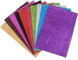EORTA 10 Pieces A4 Glitter Foam Paper Sheets Sparkling EVA Sponge Paper Multicolor for Handmade DIY Card Crafts School Pro...