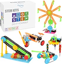 5 Set STEM Kit,DC Motors Electronic Assembly Robotic Kit DIY STEM Toys for Kids,Building Science ExperimentsProjects Kits...