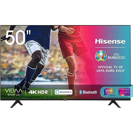 "Hisense 50AE7000F, Smart TV LED Ultra HD 4K 50"", HDR 10+, Dolby DTS, con Alexa integrata, Tuner DVB-T2/S2 HEVC Main10 [Esclusiva Amazon - 2020]"